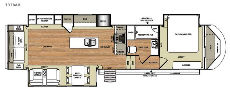 Floorplan - 2015 Forest River RV Salem Hemisphere Lite 337BAR