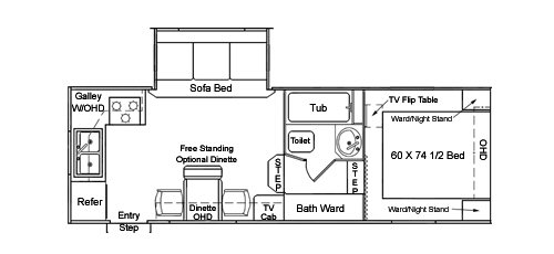 Floorplan - 2004 Northwood Arctic Fox 24-5 N