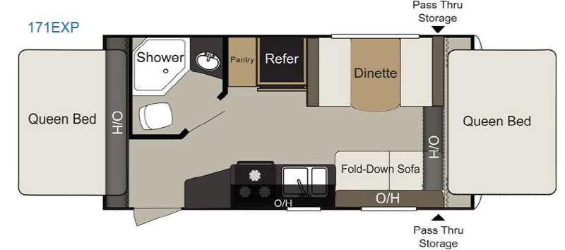 Floorplan - 2015 Keystone RV Passport 171EXP