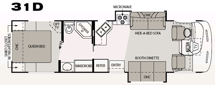 Floorplan - 2007 Four Winds RV Hurricane 31D