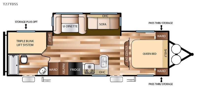 Floorplan - 2016 Forest River RV Salem 27TDSS