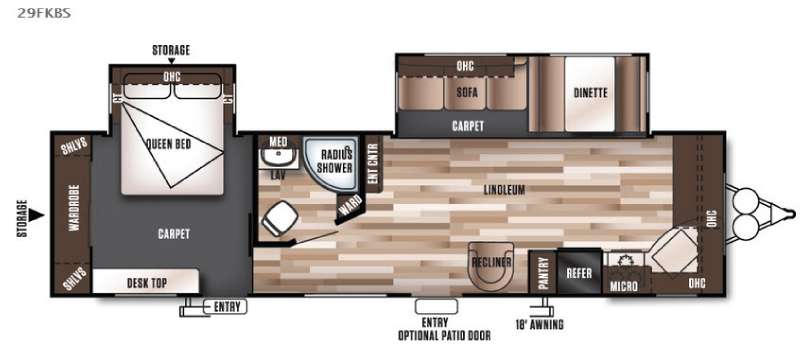 Floorplan - 2016 Forest River RV Wildwood 29FKBS