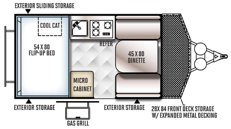 Floorplan - 2016 Forest River RV Rockwood Hard Side Series A122BH