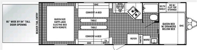 Floorplan - 2007 Dutchmen RV N'Tense 260