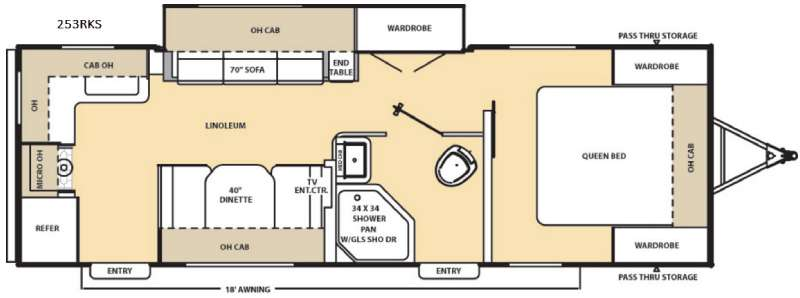 Floorplan - 2016 Coachmen RV Catalina 253RKS