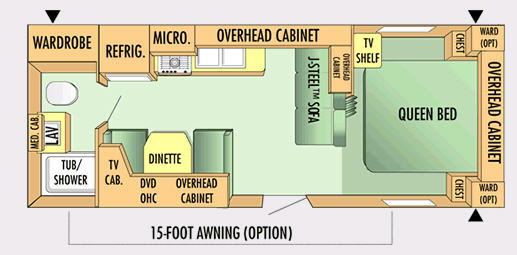 Floorplan - 2007 Jayco Jay Flight 23 FB