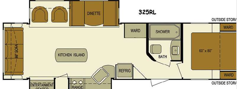 Floorplan - 2016 Skyline Layton Javelin 325RL