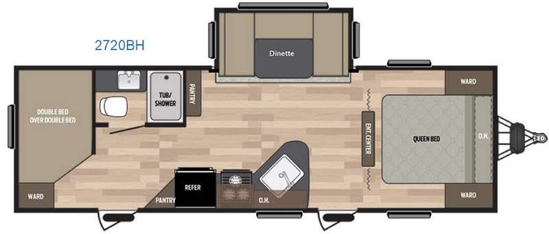 Floorplan - 2016 Keystone RV Summerland 2720BH