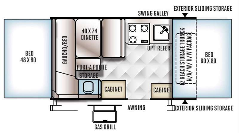 Floorplan - 2016 Forest River RV Rockwood Extreme Sports 1910ESP