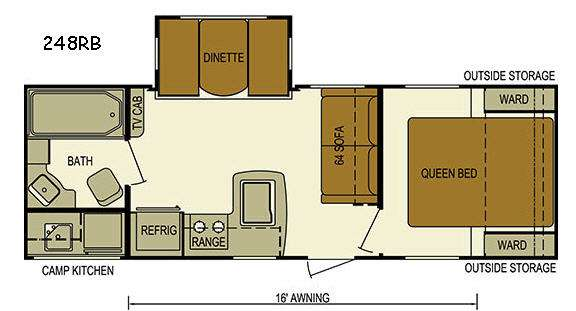 Floorplan - 2016 Skyline Nomad 248RB