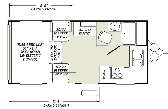 Floorplan - 2007 Fleetwood RV Redline 180FKE