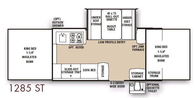Floorplan - 2007 Coachmen RV Clipper 1285 ST
