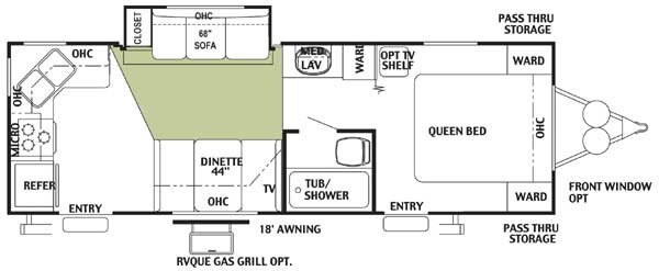 Floorplan - 2004 Forest River RV Wildwood 25 RKS