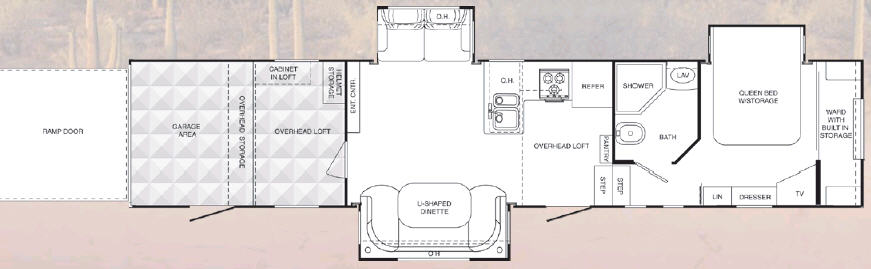 Floorplan - 2008 Heartland Cyclone 4012