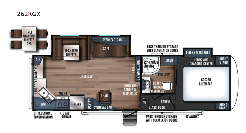Floorplan - 2017 Forest River RV Wildcat Maxx 262RGX