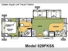 Floorplan - 2008 Forest River RV Flagstaff Classic Super Lite 829FKSS