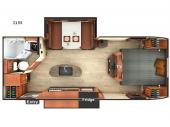Floorplan - 2017 Lance Travel Trailers 2155