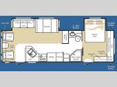 Floorplan - 2008 Keystone RV Cougar 302RLS