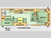 Floorplan - 2008 Jayco Jay Flight G2 27 BH