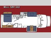 Floorplan - 2008 Gulf Stream RV Yellowstone Cruiser GX2 5291