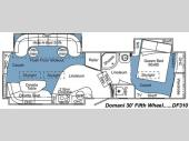 Floorplan - 2008 Carriage Domani DF310
