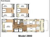 Floorplan - 2009 Forest River RV Sunseeker 2900Ford