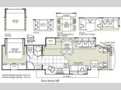 Floorplan - 2009 Fleetwood RV Pace Arrow 38P