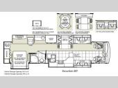 Floorplan - 2009 Fleetwood RV Excursion 40T