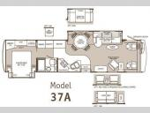 Floorplan - 2003 Fleetwood RV Pace Arrow 37A
