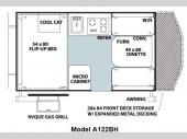 Floorplan - 2013 Forest River RV Rockwood Hard Side Series A122BH