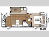 Floorplan - 2013 Dutchmen RV Komfort Trailblazer T2400RK