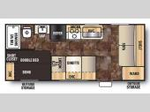 Floorplan - 2015 Forest River RV Cherokee Grey Wolf 17BH