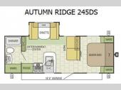Floorplan - 2016 Starcraft Autumn Ridge 245DS