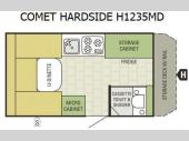 Floorplan - 2015 Starcraft Comet Hardside H1235MD