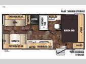 Floorplan - 2016 Forest River RV Cherokee Grey Wolf 19RL