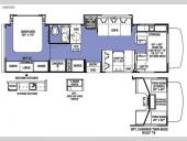 Floorplan - 2016 Forest River RV Sunseeker 2860DS Chevy