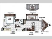 Floorplan - 2016 Forest River RV Flagstaff Super Lite 28VRBS