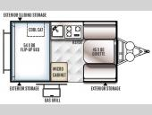 Floorplan - 2016 Forest River RV Rockwood Hard Side Series A122