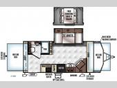 Floorplan - 2016 Forest River RV Rockwood Roo 21BD