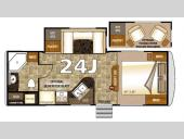 Floorplan - 2016 Northwood Arctic Fox 24J