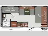 Floorplan - 2016 Gulf Stream RV Gulf Breeze Ultra Lite 18 RBD