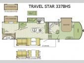 Floorplan - 2016 Starcraft Travel Star 337BHS