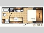 Floorplan - 2017 Palomino Real-Lite Mini 18-X
