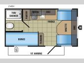 Floorplan - 2017 Jayco Jay Flight SLX 154BH