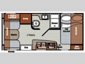 Floorplan - 2017 Gulf Stream RV Vintage Cruiser 17RWD