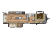 Floorplan - 2017 Keystone RV Retreat 39RLTS