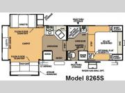 Floorplan - 2008 Forest River RV Rockwood Signature Ultra Lite 8265S