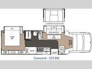 Floorplan - 2007 Coachmen RV Concord 275DS