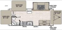 Floorplan - 2017 Coachmen RV Freedom Express 23TQX