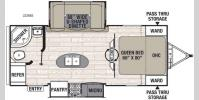 Floorplan - 2017 Coachmen RV Freedom Express 233RBS